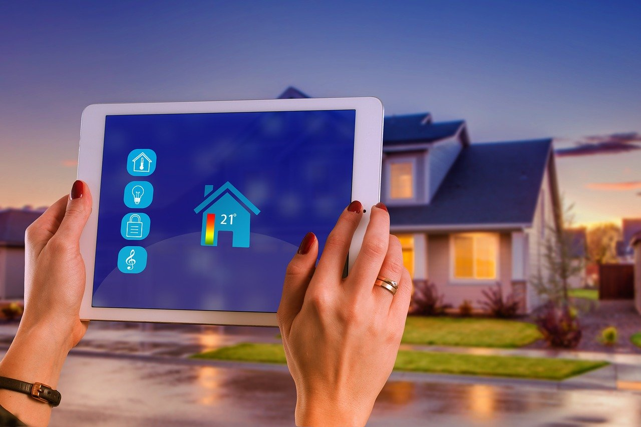smart home, house, technology